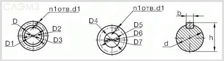 Диаметры и размеры патрубка насоса 1Д