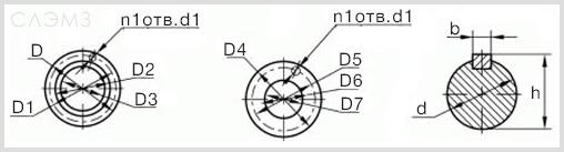 Диаметры и размеры патрубков насоса 1Д 630-90