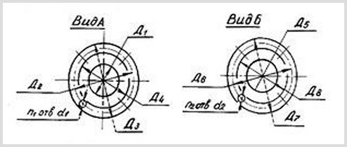 Размеры и чертеж патрубков центробежного насоса СД 80/18