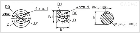 Схема и чертеж патрубков вихревого насоса ВК и ВКС