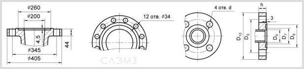 Размеры и чертеж патрубков центробежного насоса ЦНС300