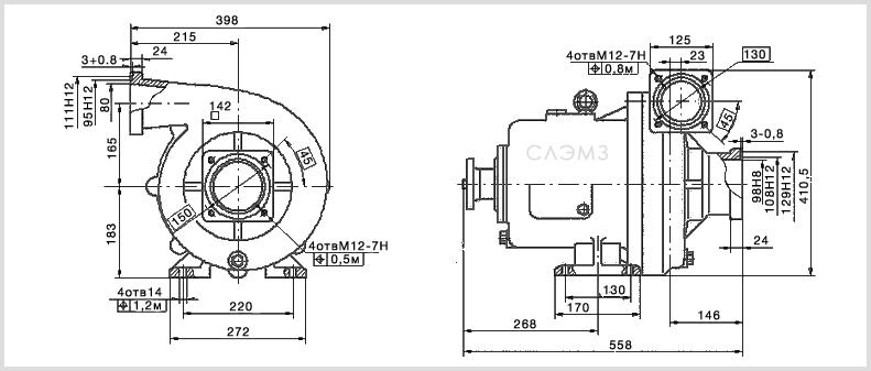Технические характеристики насоса СЦН 75/70