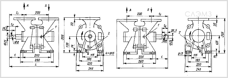 Чертеж СВН-80 левого и правого вращения