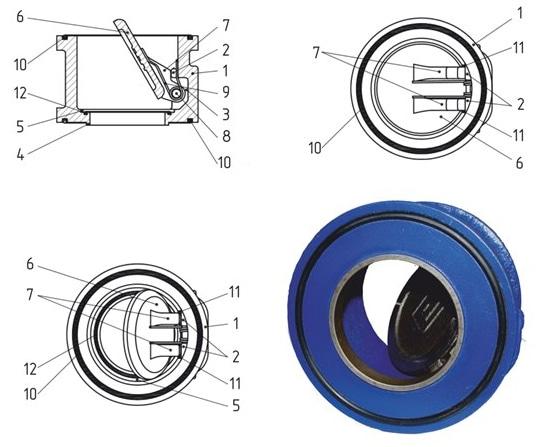Чертеж и устройство обратного клапана к насосу