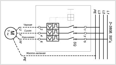Схема подключения электрического насоса ГНОМ 160-40 380в